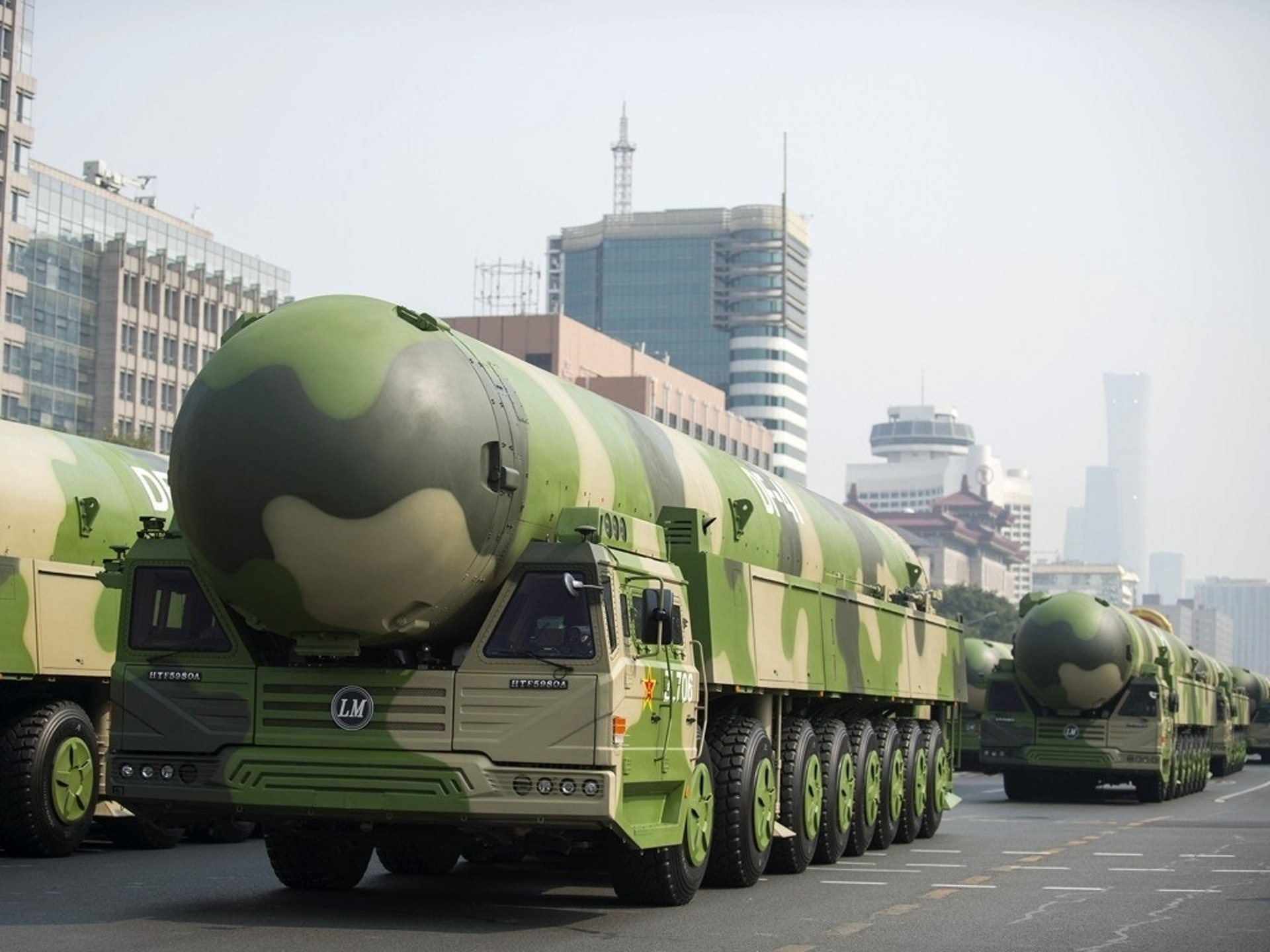 东风-41是中国最先进洲际核导弹,也被称为是地球上威力最大的导弹。(新华社)